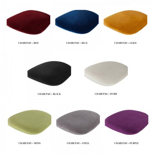 seat pads in different colours