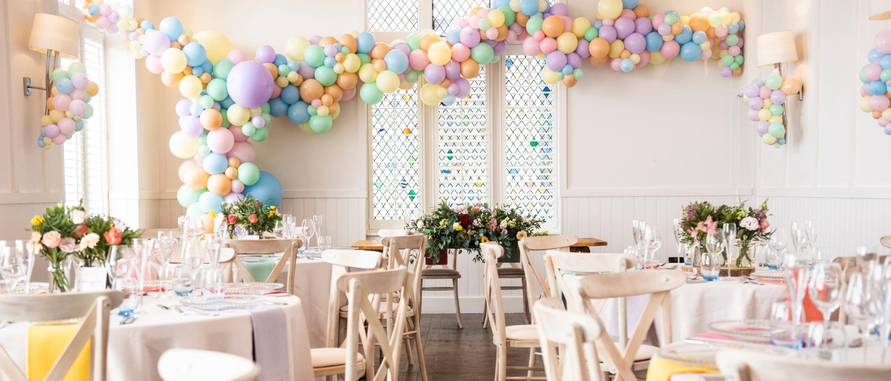 Spring Pastel Wedding Room