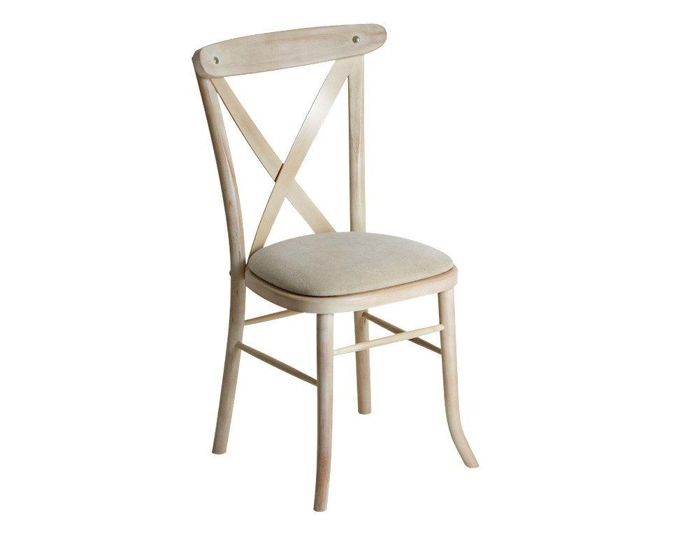 Cream Cross Back Chair