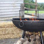 Lit Round Fire Pit