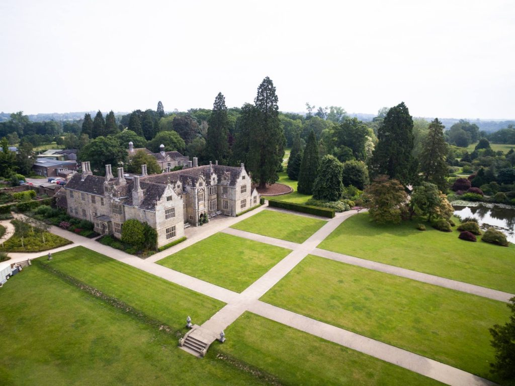 Aerial View of Wakehurst place - Wedding Venue