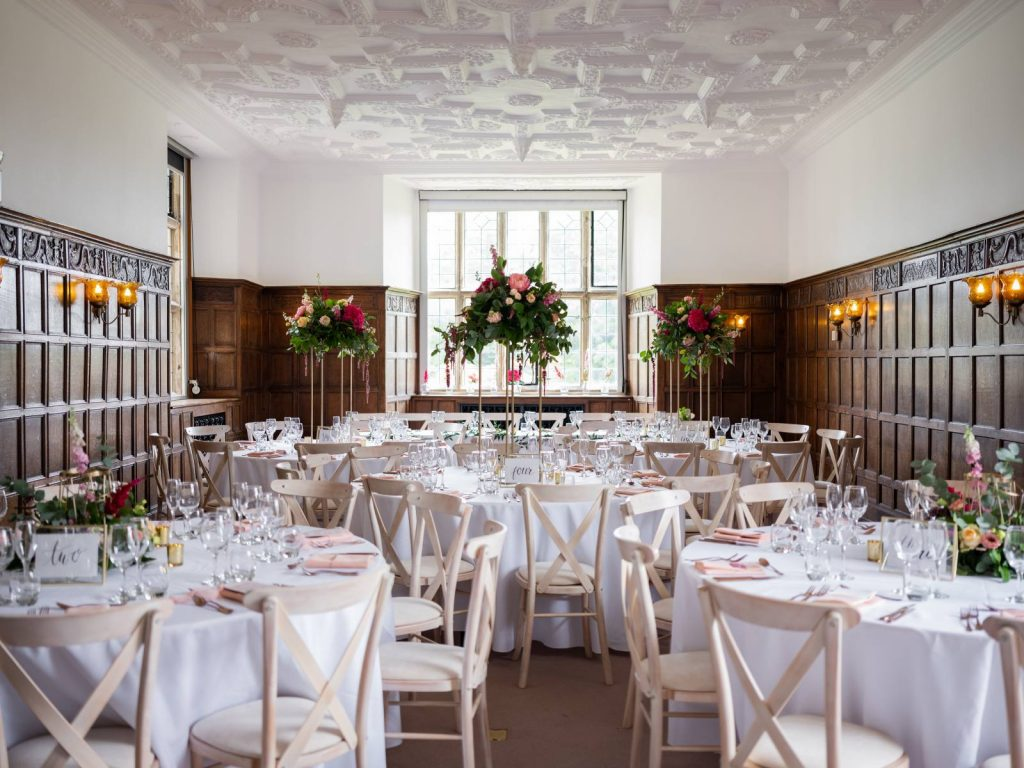 A manor house set up for a wedding