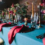 Winter wedding table linen, Dower House (1)