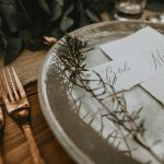 Rustic plate on a wooden table