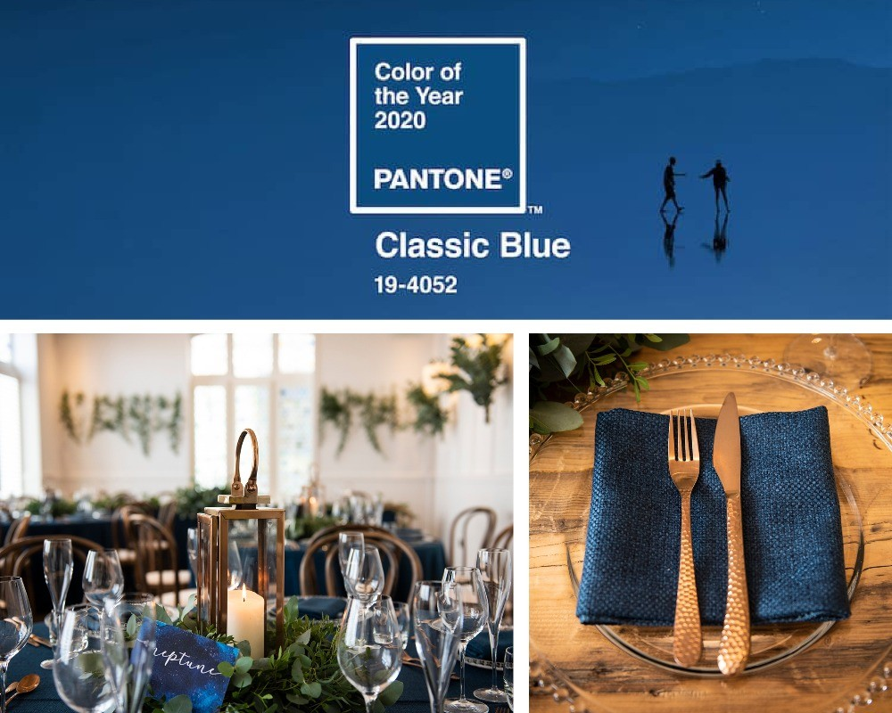 The hottest colour trends for weddings in 2020, blue hues