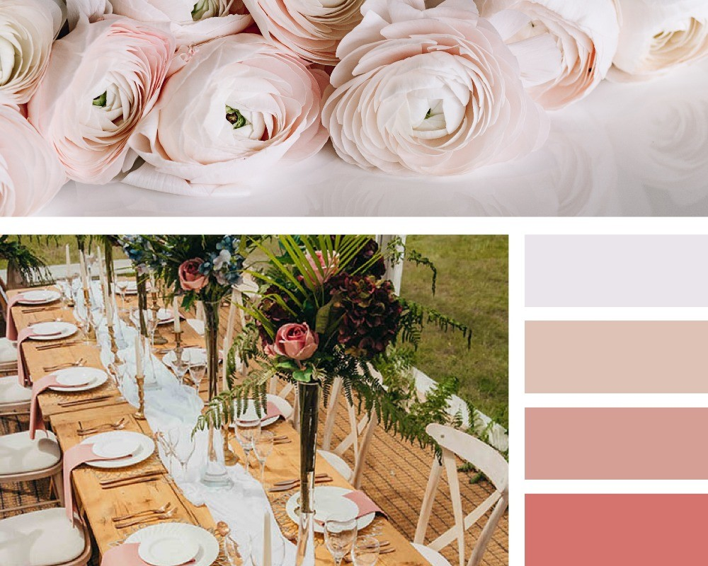The hottest colour trends for weddings in 2020, blush pink