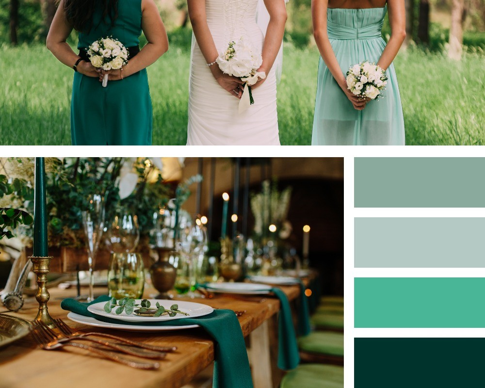 The hottest colour trends for weddings in 2020, green