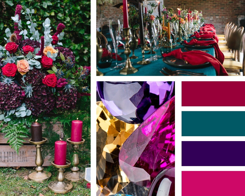 The hottest colour trends for weddings in 2020, jewel tones