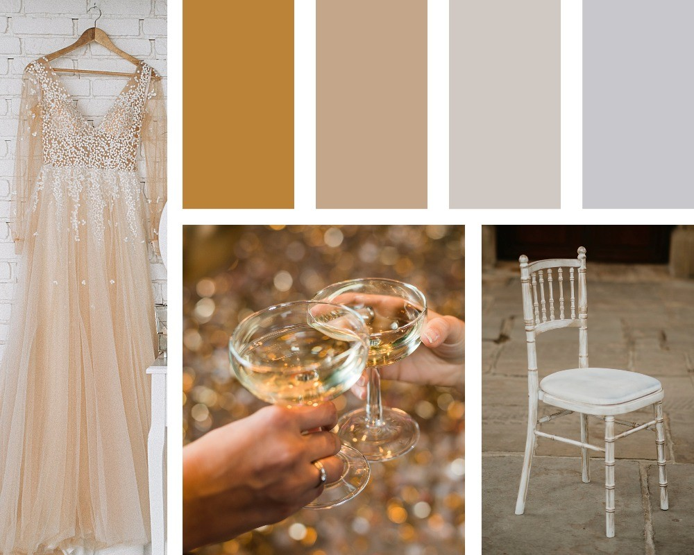 The hottest colour trends for weddings in 2020, metallics, glitz & glam