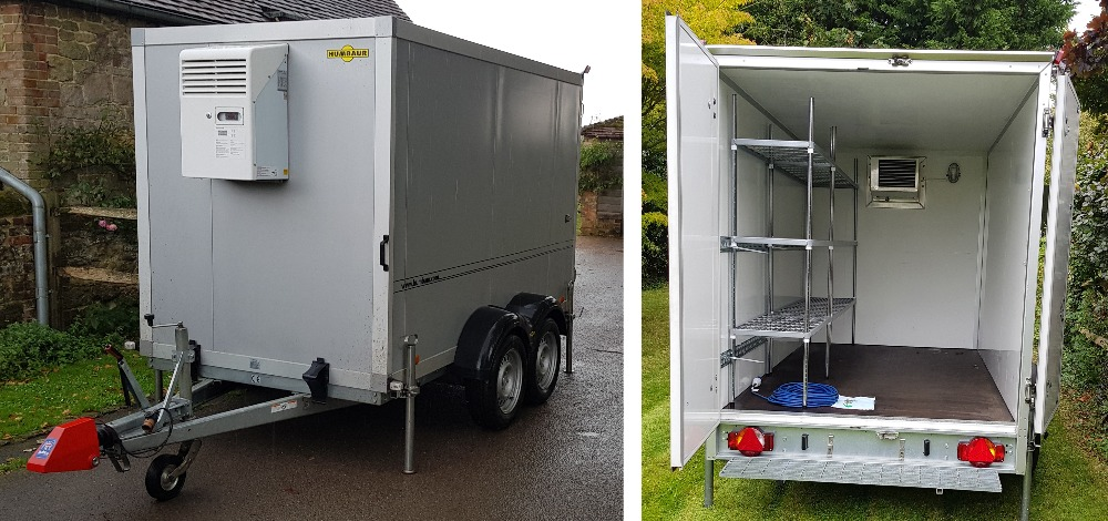 Hire refrigerated trailer, inside and out