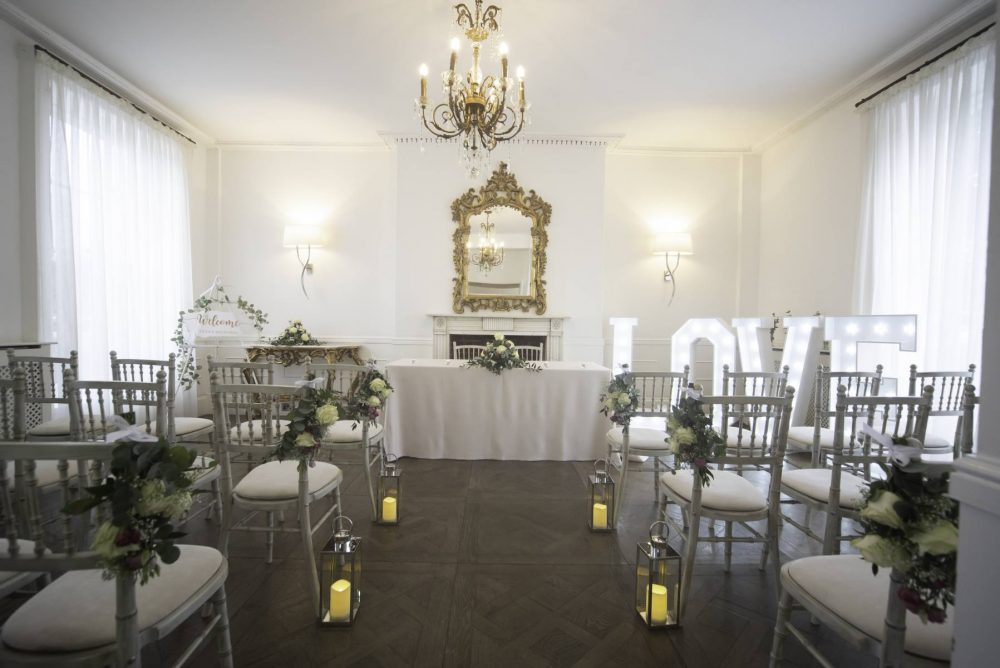Wedding ceremony setup - Chichester Harbour Hotel